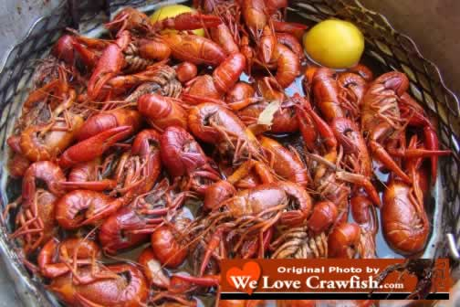 Photo of Atchafalaya Basin Crawfish in Louisiana ... boiled to perfection, seasoned just right.